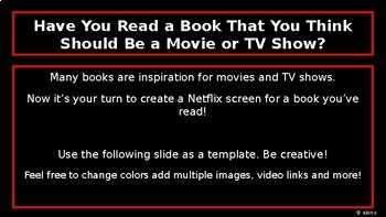 Netflix Template Worksheets Teaching Resources Tpt