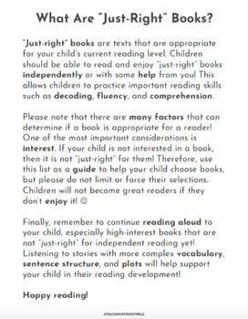 """""""Books I Can Read This Summer"""" By Guided Reading Level (A-Z) Summer Packet"""
