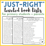 """Books I Can Read This Summer"" By Guided Reading Level (A-"
