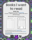 Books I Want to Read Log- 48 different book logs {Black an