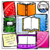 Book Clipart, Notebook Clipart, and Folders Clipart (Schoo