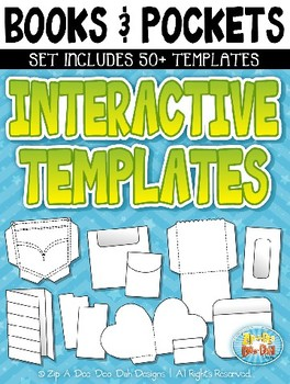 Books & Pockets Flippable Interactive Templates Pack {Zip-A-Dee-Doo-Dah Designs}