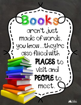 Books Poster - Perfect for Classroom Library