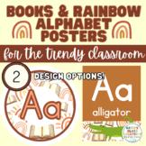Books & Rainbow Alphabet Posters/Class Decor