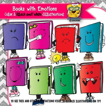 Books With Emotions Commercial Use Clipart