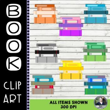 Books/Stack of Books Clip Art - 8 pieces - 300 dpi