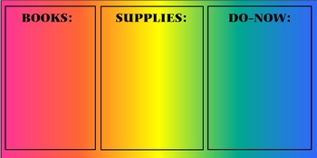 Books, Supplies, Do-Now Poster