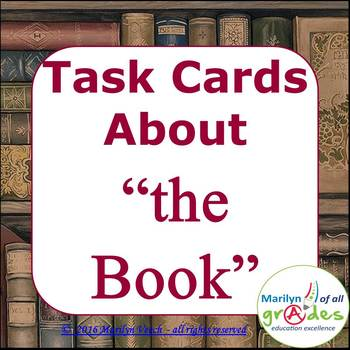 28 Book Themed Task Cards