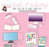 Books & Technology Illustrations - FREEBIE!