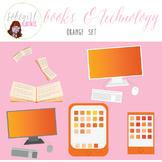 Books & Technology Illustrations - ORANGE
