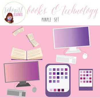 Books & Technology Illustrations - PURPLE
