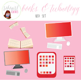 Books & Technology Illustrations - RED