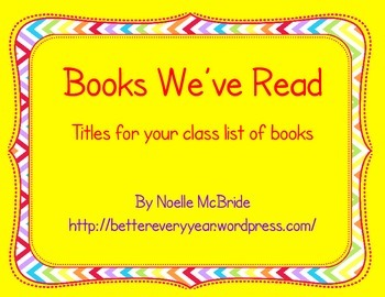 Books We Have Read this year! Signs for your display
