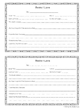 Books We Love - Book Recommendation Form