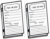 Books We Read Mini Book Report