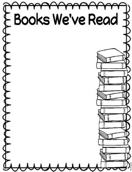 Books We've Read Banner & Book Log