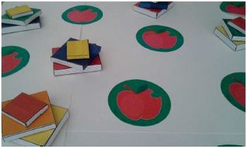 Books and Apples printable activities door theme decor