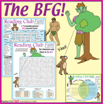 Bundle: Books and Movies 2017 (Two Puzzles and Venn Diagram for The BFG)