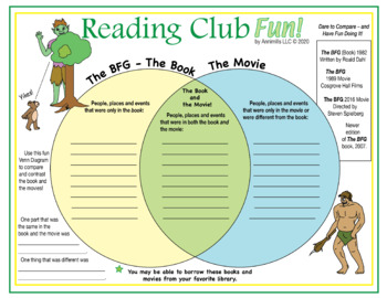 Bundle: Books and Movies 2018 (Two Puzzles and Venn Diagram for The BFG)