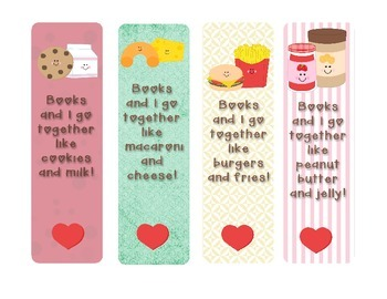 Books and I go Together Book Marks