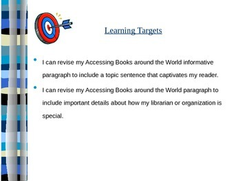 Books around the world informative paragraph (EL cur. M1, U3, L12)