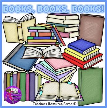Books clip art: crayon effect clipart