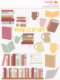 Books clipart, book shelf, library clip art (LC15)