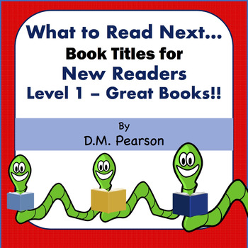 Books for New Readers Level 1-Great Books, 3K, 4K, K, 1