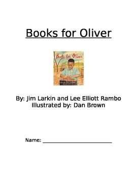 Books for Oliver - Picture Book Questions