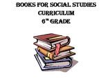 6th Grade Books for Social Studies Curriculum