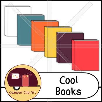 Books in cool colors, Clip Art {CU - ok!}
