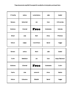 photograph regarding Bible Bingo Printable named Textbooks of the Bible Bingo