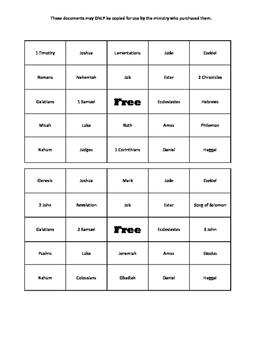 Books of the Bible Bingo