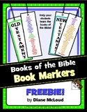 Books of the Bible Book Markers FREEBIE!