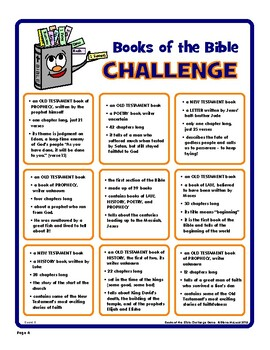 Books of the Bible Challenge — Fun Review Game!