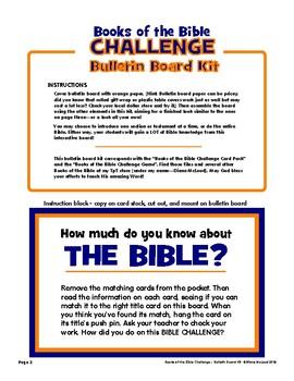 Books of the Bible Challenge — Interactive Bulletin Board Kit