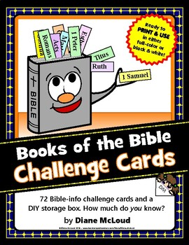 Books of the Bible Challenge Cards — with Make-and-Take Box