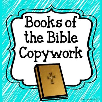 Books of the Bible Copywork
