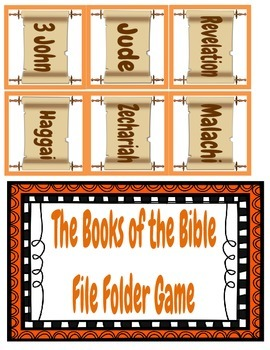 Books of the Bible File Folder Game Freebie