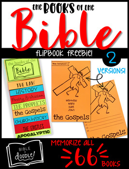 Books of the Bible Flipbook Freebie