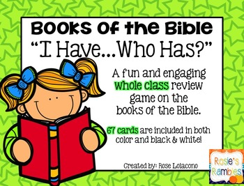 "Books of the Bible ""I have...who has?"""