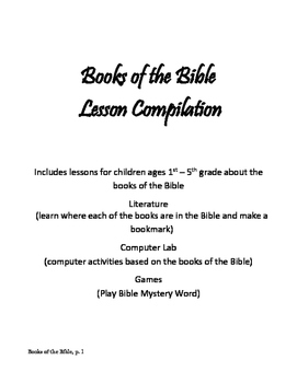 Books of the Bible Lesson Compilation