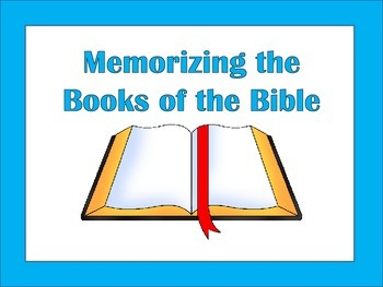 Christian Education: Books of the Bible Memorization Activities