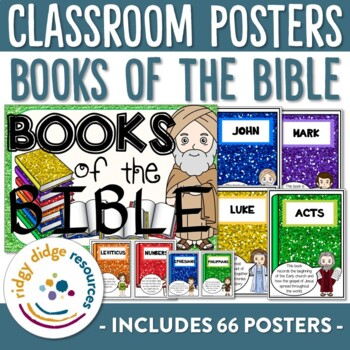 Books of the Bible Classroom Decor Poster Set