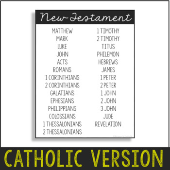 Books of the Bible Poster Set, Study Notes, Catholic Version {FREEBIE!}