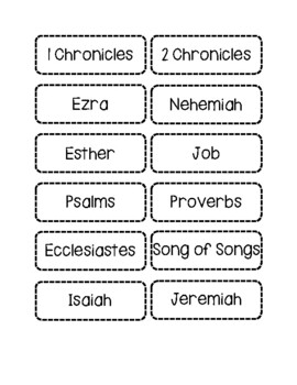Books of the Bible Activity Packet
