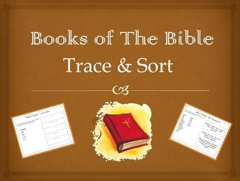 Books of the Bible Trace & Sort