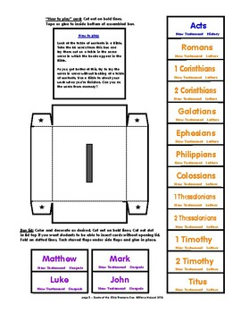 Books of the Bible Treasure Box