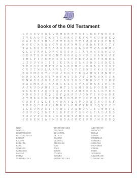 Books of the Bible Word Searches: Old and New Testament