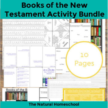 Books of the Bible Worksheets ~ New Testament Printable Set
